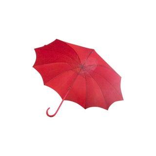 Vintage Red Push N' Go Umbrella