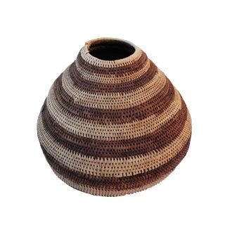 Botswana Primitive Folk Art Handmade African Basket