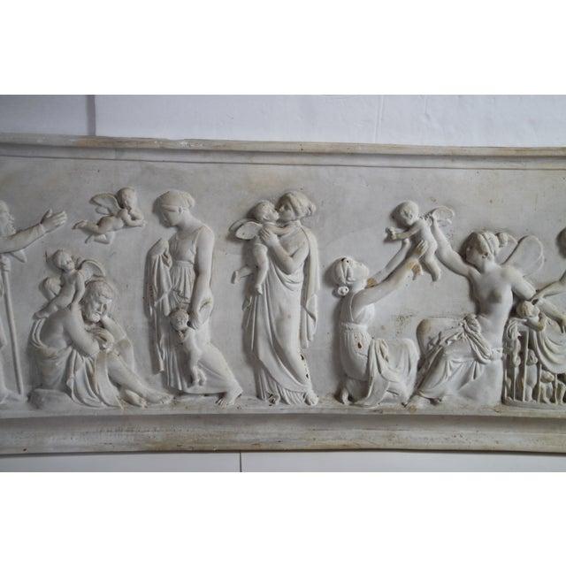 Neoclassical Plaster Relief Cherub Wall Art - Image 4 of 11