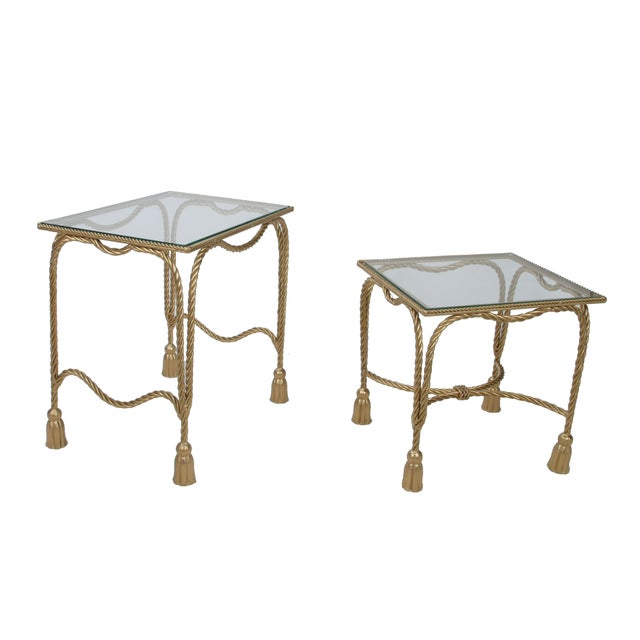 Decorative Gilt Metal Nesting Tables - a Pair - Image 9 of 9