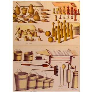 1870s Toy & Dollhouse Design Planches - A Pair