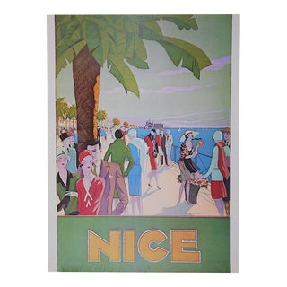 Vintage Poster by Listed Artist - Nice, France C.1973