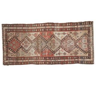 Distressed Antique Malayer Rug - 2′11″ × 6′3″