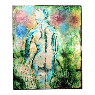 Enamel in Copper Art, Nude Abstract