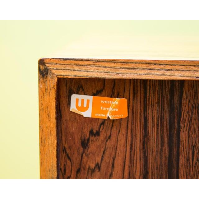 Mid Century Westnofa Rosewood Highboy Dresser - Image 8 of 11