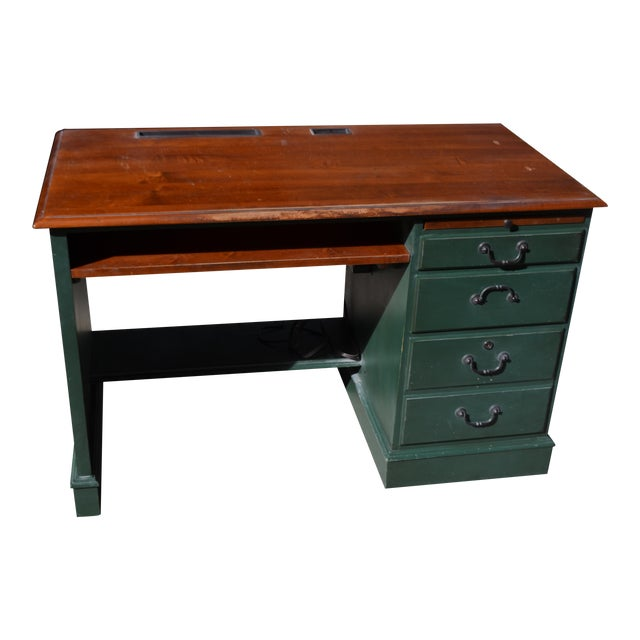 Ethan Allen Country Crossings Computer Desk - Image 1 of 5