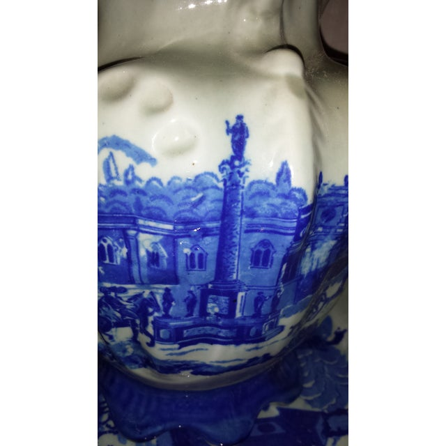 Vintage Chinese Flow Blue Pitcher & Wash Basin - A Pair - Image 7 of 10