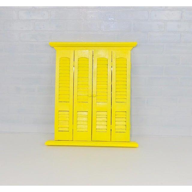 Yellow Window Pane Wall Mirror - Image 5 of 9