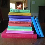 Image of Brightly Colored Decorative Books - Set of 13