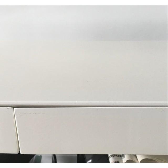 Image of West Elm White Parsons Desk