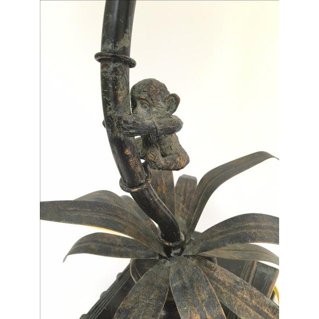 Bronze Monkey Palm Tree Lamps Pair Chairish