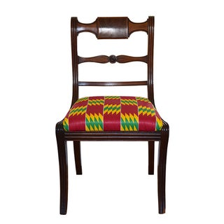 Empire Style African Print Side Chair