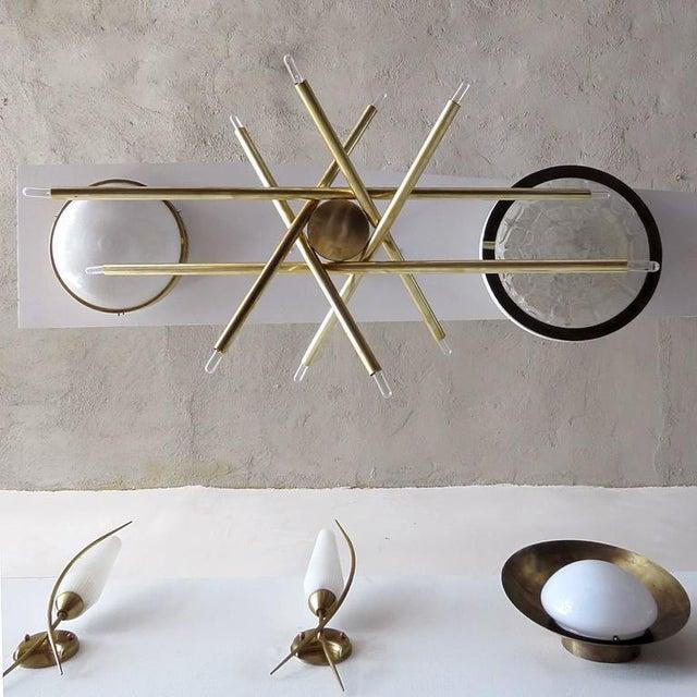 Raw Brass & Spiral Chandelier - Image 8 of 11