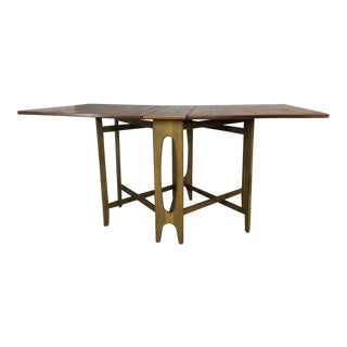 Danish Modern Drop-Leaf Walnut Folding Table