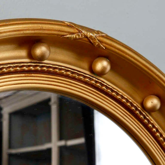 1920s Gilded Round Frame Mirror with Beaded Trim - Image 3 of 4