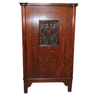 Antique Arts and Crafts Oak Humidor