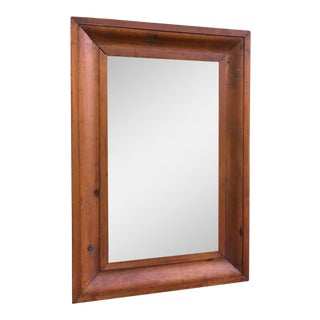 Antique Pine Wood Mirror