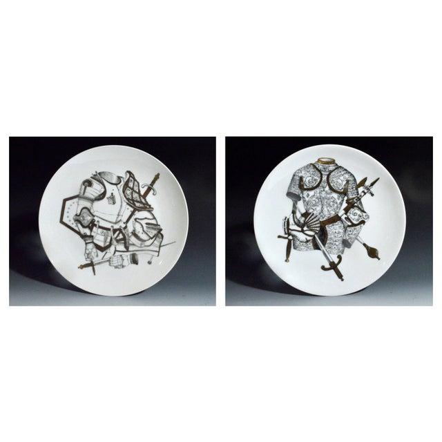 Piero Fornasetti Plate with Coats of Armour, the Armature Pattern - Image 1 of 3