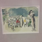 """Image of Marc Chagall Lithograph of """"Hommage a Julien Cain"""""""