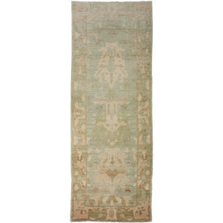 "Aara Rugs Inc. Hand Knotted Oushak Runner - 9'2"" X 3'3"""
