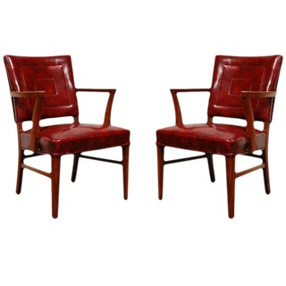 Antique Bankers Chairs - A Pair