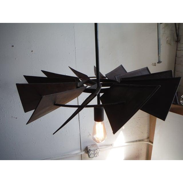 Vintage Rustic Windmill Pendant Light - Image 4 of 6