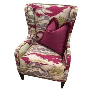 Lambert Wing Chair in Beet