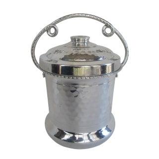 Curled Handle Aluminum Ice Bucket
