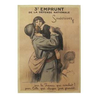 1917 French Vintage WW1 Propaganda Poster, 3e Emprunt