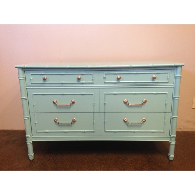 Thomasville Faux Bamboo Dresser Image 2 Of 8