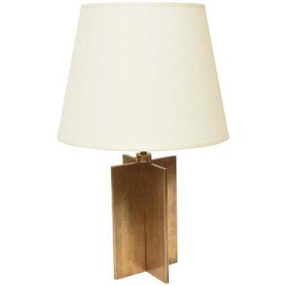 """Jean-Michel Frank """"Croisillon"""" Bronze Table Lamps- A Pair"""