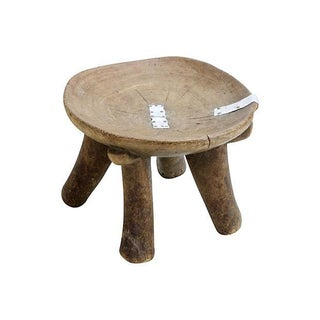 Ethiopian Footed Stool Bowl
