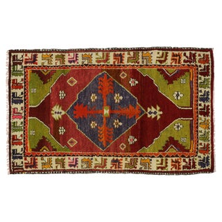 Vintage Turkish Oushak Rug - 2′10″ × 4′6″