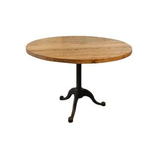 Wood & Iron Round Table