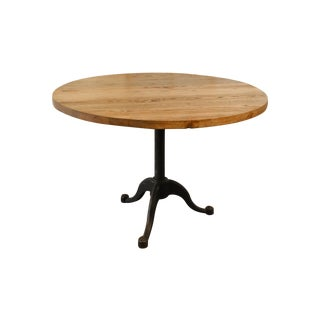 Wood & Iron Round Table