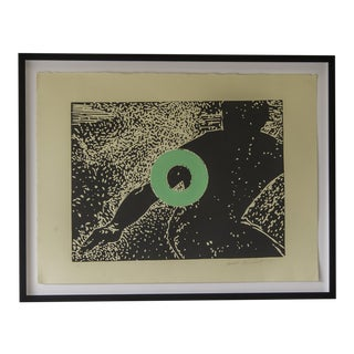 """Go"", Carol Bennett, Original Linocut on Paper, Kaua'i, 2004"