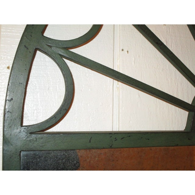 Large Mirror in Green Iron Frame - Image 3 of 5
