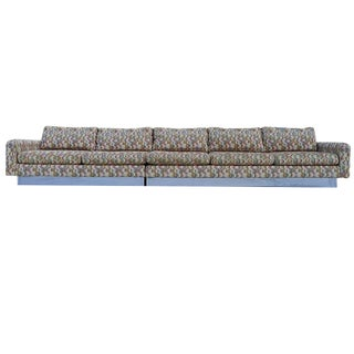 Monumental Chrome Base Craft Associates Milo Baughman Sectional Sofa