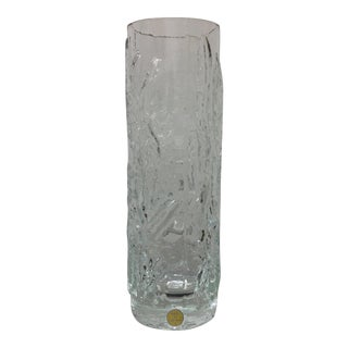 Scandinavian Modern Ice Glass Vase