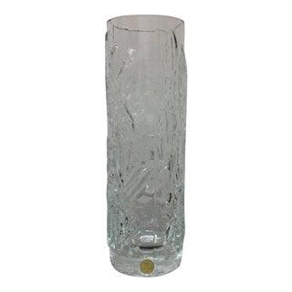 Scandinavian Modern Ice Glass Vase