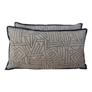 Geometric Kuba Cloth Pillows - A Pair