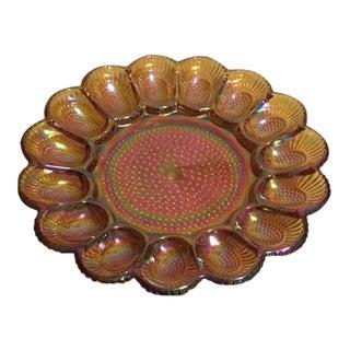 Vintage Carnival Wear Deviled Egg Plate