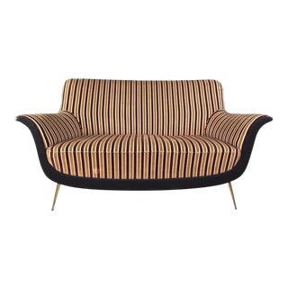 Exquisite Italian Modern Loveseat after Marco Zanuso