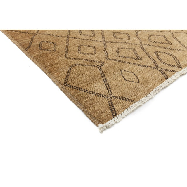 """New Moroccan Hand Knotted Area Rug - 8'3"""" x 10'1"""" - Image 2 of 3"""