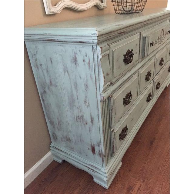 Vintage Distressed 7-Drawer Dresser - Image 5 of 10