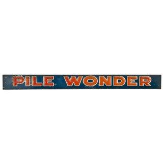 French Metal Pile Wonder Sign