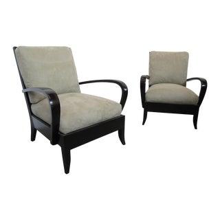 Dakota Jackson Ceylon Ebonized Lounge Chair - Pair