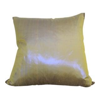 Dual Color Metallic Silk Pillow