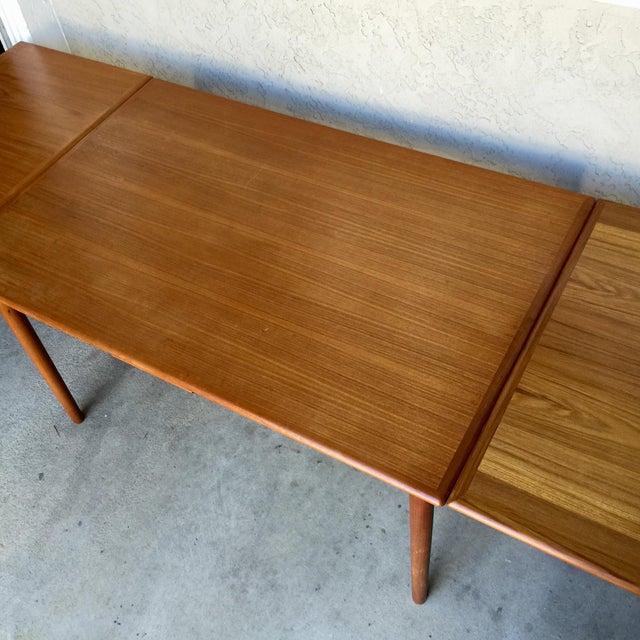 Image of Danish Modern Teak Expandable Dining Table