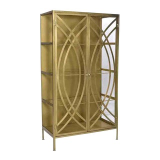 Brass & Glass Storage Cabinet